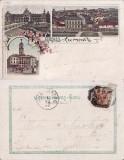 Cernauti ,Bucovina - litografie 1897, Circulata, Printata