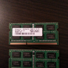 Memorie Kingston DDR3 laptop, 2 GB - 2 buc - Memorie RAM laptop Kingston, 1333 mhz