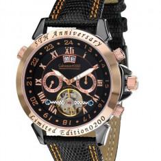 Ceas de lux Calvaneo 1583 Astonia 5 Rose Gold Black, original, nou, cu factura si garantie! - Ceas barbatesc Calvaneo, Lux - elegant, Mecanic-Automatic