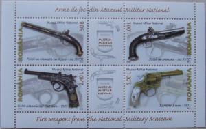 ROMANIA 2008 - ARME VECHI  4 VALORI IN M/SH, NEOBLITERATA - RO 0090