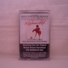 Vand caseta audio The Woman In Red-Motion Picture Soundtrack, originala, raritate! - Muzica soundtrack Altele, Casete audio