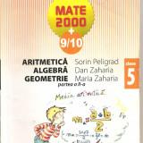 (C4627) ARITMETICA, ALGEBRA, GEOMETRIE, CLASA A V-A, PARTEA A II-A, AUTORI: SORIN PELIGRAD, DAN ZAHARIA SI MARIA ZAHARIA, EDITURA PARALELA 45, 2009 - Carte Matematica