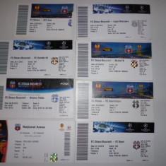 Lot 8 bilete meciuri fotbal - STEAUA BUCURESTI in cupele europene - Bilet meci