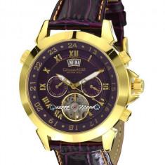 Ceas de lux Calvaneo 1583 Astonia Gold Violet, original, nou, cu factura si garantie! - Ceas barbatesc Calvaneo, Lux - elegant, Mecanic-Automatic