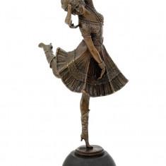 DANSATOARE - STATUETA DIN BRONZ PE SOCLU DIN MARMURA - sculptura reproducere, Portrete