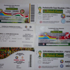 Lot 6 bilete meciuri internationale fotbal - Nationala Romaniei - Bilet meci