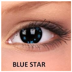 Lentile de contact colorate Blue Star.