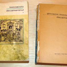 DECAMERONUL - Boccaccio ( vol. I + II ) - Roman istoric