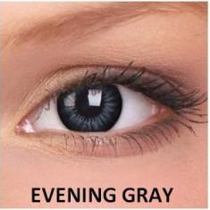 Lentile de contact colorate gri Evening Gray. Pentru 3 luni.