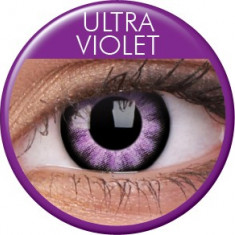 Lentile de contact colorate violet. Ultra Violet.