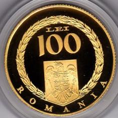 BNR 100 lei 2008 aur, 6, 45 grame, Publius Ovidius Naso, ConstantaTIRAJ 250 bucati - Moneda Romania