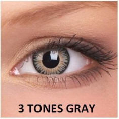 Lentile de contact colorate gri 3 Tones Gray.
