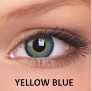123123Lentile de contact colorate naturale Yellow Blue.