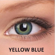 Lentile de contact colorate naturale Yellow Blue.