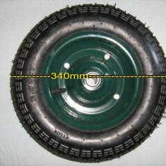 ROABA Roata de schimb universala cu rulmenti +cauciuc + camera + 2 petece