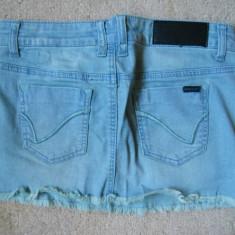 Fusta blugi jeans ruginiu ONLY - noua! XS / S frumos model!!, Culoare: Bleumarin, Scurta, Dreapta, Bumbac