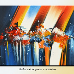 Tablou Abstract 110 - ulei pe panza 90x60cm LIVRARE GRATUITA 24-48h