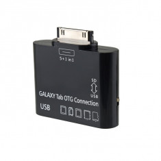 5 In 1 USB Card Reader Connector KIT OTG HOST Black For SAMSUNG GALAXY TAB 10.1 P7500 P7510