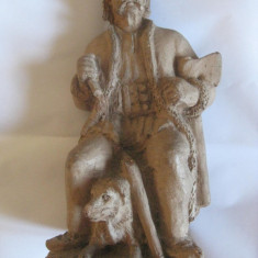 RARITATE!!! STATUETA CARAMIDA(LUT ARS) DIN 1938 SEMNATA GYIMESI- BALINT LAZAR - Sculptura