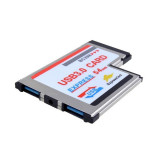 Expresscard 54mm la USB 3.0x2 Port Adapter