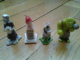 Colectie set lot 4 figurine Surprize Kinder Shrek Esel Wolf serie anii 2000 cu accesorii complete