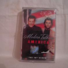 Vand caseta audio Modern Talking-America, sigilata, originala, raritate! - Muzica Pop ariola, Casete audio