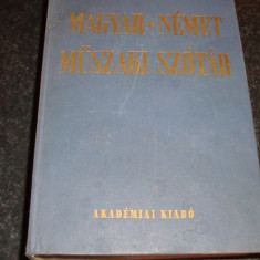 Dictionar tehnic maghiar german - Nagy / Klar - 1985- ed academiei maghiare - Enciclopedie
