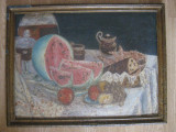 PICTURA IN ULEI PE CARTON DIN ANII 50, Altul, Realism