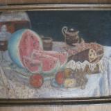 PICTURA IN ULEI PE CARTON DIN ANII 50 - Pictor strain, Altul, Realism