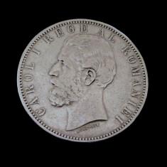 5 Lei 1883 Argint  -  (Moneda Romania Carol I )
