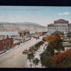 Budapesta - Ferencz Jozsel ter - Franz Josefsplatz - Vedere circulata -