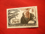 Serie Lupa contra Cancerului 1941 Franta , 1 val. stamp.