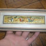 Pictura orientala pe foita de os - Tablou autor neidentificat