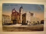 ROMANIA - CLUJ - KOLOZSVAR.  NEMZETI  SZINHAZ - LEVELEZO - LAP.  - EDITURA  KESZEY  ALBERT - 1919 - CIRCULATA  CU  STAMPILA  DE  CENZURAT  CLUJ   .