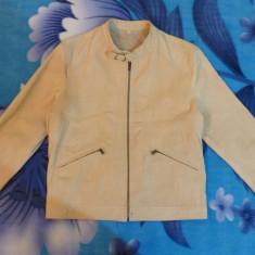 Geaca din piele naturala Vera Pelle (Real Leather); marime 48, vezi dimensiuni - Geaca dama, Culoare: Din imagine