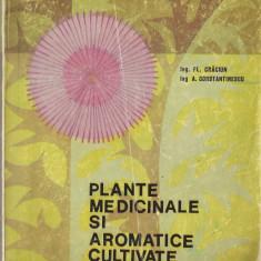 FL. CRACIUN, A. CONSTANTINESCU - PLANTE MEDICINALE SI AROMATICE CULTIVATE { 1969, 280 p.} - Carte Medicina alternativa