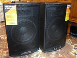2 BOXE ACTIVE/AMPLIFICATE CU MIXER,MP3 PLAYER,300watt,EFECTE VOCE+2 MICROFOANE.