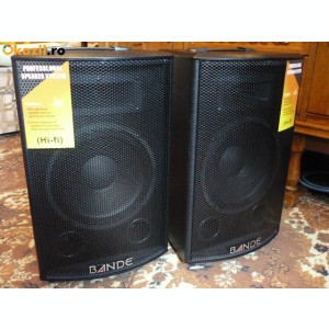 2 BOXE ACTIVE/AMPLIFICATE CU MIXER,MP3 PLAYER,300watt,EFECTE VOCE+2 MICROFOANE.