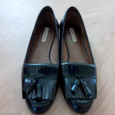 Balerini Zara piele - Balerini dama Zara, Culoare: Negru, Marime: 40, Negru