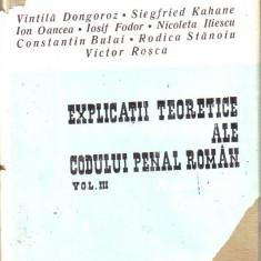 Vintila Dongoroz-Explicatii teoretice ale Codului de precedura penala roman vol 3 - Carte Drept penal