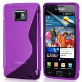 Husa Samsung i9100 i9105 i9101 Galaxy SII s2 plus + folie + stylus - Husa Telefon Samsung, Samsung Galaxy S2, Mov, Gel TPU