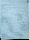 Manuscris olograf al scriitorului Virgil Carianopol , 11 foi A4 , nepublicate