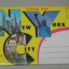 Pliant  12 ILUSTRATE / VEDERI NEW YORK, USA SUA STATELE UNITE ALE AMERICII. necirculate. 1963