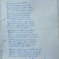 Manuscris al poetului avangardist Virgil Carianopol , o poezie