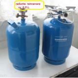 Butelie voiaj de 5 Litri + ARZATOR NU necesita REDUCTIE de reincarcare - Aragaz/Arzator camping