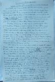 Manuscris olograf al scriitorului Demostene Botez , 3 foi A4 semnate