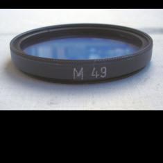 Filtru foto albastru filet de 49 mm, 40-50 mm