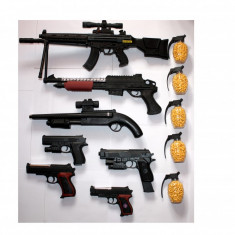 SET 7 AIRSOFT COMPUS DIN PUSTI SI PISTOALE, PROPULSIE LEGALA SPRING+3000 BILE! - Arma Airsoft