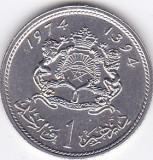 Moneda Maroc 1 Dirham 1974 - KM#63 UNC, Africa
