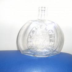 Superba sticla de palinca/tuica, vintage, marcata KAPELUSZ-KOSECKI ,in relief, 1 litru, de colectie !